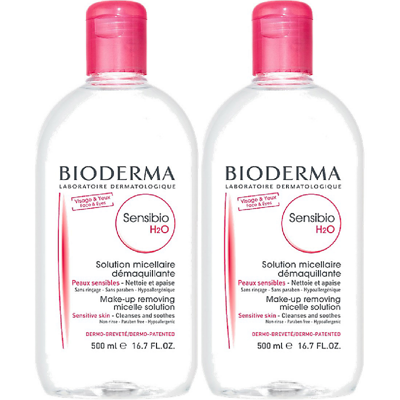 Bioderma Sensibio H20 500ml Twin Pack
