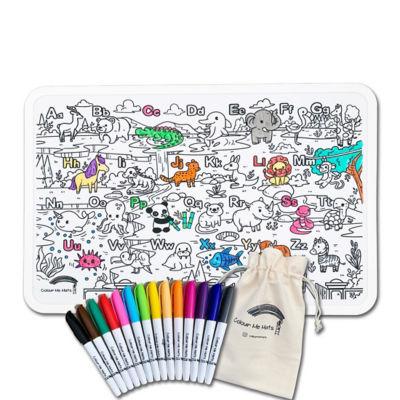 Buy Abc Alphabet Zoo Colouring Mat Bundle Online Singapore Ishopchangi